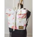 Serin virágos hátizsák , Táska, Hátizsák, Egyéni hátizsák. A táska külső vászon,  alatta pedig cordura található, ami a táskának tartást ad il..., Meska