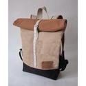 Serin zsákvászon hátizsák AKCIÓ , Táska, Hátizsák, Egyéni hátizsák. A táska zsákvászon,  alatta pedig cordura található, ami a táskának tartást ad ille..., Meska