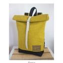 Serin hátizsák 1. (mama), Táska, Hátizsák, Egyéni hátizsák. A táska külseje nagyon szép enyhén mintázott bútorszövet,  alatta pedig cordura tal..., Meska