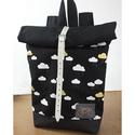 Serin felhős hátizsák AKCIÓS, Táska, Divat & Szépség, Táska, Hátizsák, Egyéni hátizsák. A táska vászon,  alatta pedig cordura található, ami a táskának tartást ad illetve ..., Meska