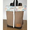 Serin virágos hátizsák  , Táska, Divat & Szépség, Táska, Hátizsák, Egyéni szép hátizsák. A táska külseje felül a visszatekerőjén egy szép virágos anyag.A többi része b..., Meska