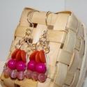 Rózsaszín-narancs fülbevaló Nona28-nak lefoglalva, Ezt a fülbevalót Nona28-nak készítettem, ha ne...