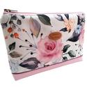 Rózsás Női Vízálló neszesszer / pénztárca, Megálmodtam és elkészítettem :)  A neszesszer ...