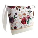 Bordó rózsás Női nyári vízálló táska - Fehér, arany és bordó színekben , Megálmodtam és elkészítettem :) Igazi kellemes...
