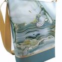 Különleges női nagy táska - Kék és bézs színben , Megálmodtam és elkészítettem :) Remélem neked...