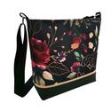 Bordó rózsás Női elegáns vízálló táska - Fekete, arany és bordó színekben , Megálmodtam és elkészítettem :) Igazi kellemes...