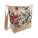Bézs virágos női elegáns vízálló táska , Megálmodtam és elkészítettem :) Igazi kellemes...