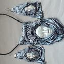 Paverpol fehér garnitúra, Paverpol technikával készült (textil alapú), v...