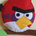 Angry birds_piros madár névtábla, Baba-mama-gyerek, Gyerekszoba, Baba falikép, Képkeret, Varrás, Ajánlom gyerekszoba falra, vagy Angry birds függőknek :) Névvel is kérhető.   Anyaga: filc, 100% ké..., Meska