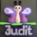 Pillangó névtábla, Dekoráció, Kép, Pillangó névtábla atish részére., Meska