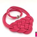 CELTIC paracord nyaklánc - Pink, Ékszer, Nyaklánc, Kelta csomót idéző nyaklánc, melynek viselése abszolút egyedi megjelenést kölcsönöz. A nya..., Meska