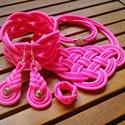 CELTIC paracord nyaklánc szett, Ékszer, Ékszerszett, Nyaklánc, Karkötő, Egy kedves ismerősöm részére készítettem ezt a naggyon pink szettet, kérésre nagyon szívese..., Meska