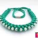 TOUAREG paracord nyaklánc - smaragd zöld, Ékszer, Nyaklánc, Nagyon elegáns, trendi csomózott nyaklánc.  A nyakláncot smaragd zöld színű paracord zsinórb..., Meska