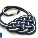 CELTIC paracord nyaklánc - Navy Gold, Ékszer, Nyaklánc, Kelta csomót idéző nyaklánc, melynek viselése abszolút egyedi megjelenést kölcsönöz. A nya..., Meska