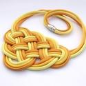 CELTIC Paracord nyaklánc - Honey, Ékszer, Nyaklánc, Kelta csomót idéző nyaklánc, melynek viselése abszolút egyedi megjelenést kölcsönöz. A nya..., Meska