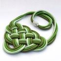 CELTIC paracord nyaklánc - Fields of Green, Ékszer, Nyaklánc, Kelta csomót idéző nyaklánc, melynek viselése abszolút egyedi megjelenést kölcsönöz. A nya..., Meska