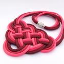 CELTIC paracord nyaklánc - Crimson, Ékszer, Nyaklánc, Kelta csomót idéző nyaklánc, melynek viselése abszolút egyedi megjelenést kölcsönöz. A nya..., Meska