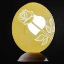 Valenti napi mécses, Dekoráció, Valentin napra, Mindenmás, Gravírozás, A strucctojás mécses gravírozás és áttörés módszerével készül, valódi strucctojásból. A tojás maga ..., Meska