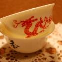 kézzel festett porcelán csészécske, Férfiaknak, Konyhafelszerelés, Bögre, csésze, Kézzel festett, kínai porcelán csésze, sárkány mintával. átm:6 cm, magasság: 3 cm, Meska