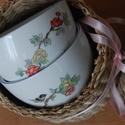 kézzel festett porcelán csésze, Konyhafelszerelés, Bögre, csésze, Porcelán csésze, általam kézzel festett keleties, virág mintával. A csésze űrtartalma: 0,5 d..., Meska