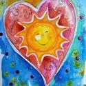 Süssön a Nap a Szívedben!, Baba-mama-gyerek, Dekoráció, Képzőművészet, Kép, Fotó, grafika, rajz, illusztráció, Nem print! Mindenkinek kell jusson egy Napos-mosolygós. Figyeld az oldalamat, mert újabbak és újabb..., Meska