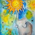 Nap-labda, Baba-mama-gyerek, Dekoráció, Képzőművészet, Kép, Fotó, grafika, rajz, illusztráció, Nem print! A nap az élet, a vidámság, a szerelem... Bármely otthonban mosolyt varázsol. Mindenkinek..., Meska