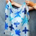 Kék álom shibori selyemkendő, Shibori technikával festett egyedi selyemkendő. ...