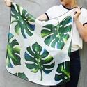 Trópusi selyemkendő pálmalevelekkel, Az idei nyár slágere a mélyzöld pálmalevél. ...