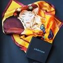 A csók Klimt képe inspirálta selyemkendő,  Gustav Klimt a szecesszió festőjének képe ins...