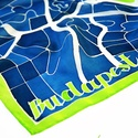 Budapest térkép selyemkendő, Képzőművészet, Ruha, divat, cipő, Kendő, sál, sapka, kesztyű, Kendő, Fedezd fel Budapestet! Indulj el a zegzugos utcákon nézz be a kapualjakba, sétálj végig az Andrássy ..., Meska