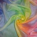 pasztell színű selyemkendő, Ruha, divat, cipő, Kendő, sál, sapka, kesztyű, Kendő, Selyemfestés, anyaga: 100 % selyem mérete: 74*74 cm vagy 45*150 cm  Mutatós,elegáns harmonikus színhatású selyemk..., Meska