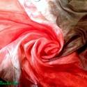 """Bársonyos melegszínű selyemkendő, Ruha, divat, cipő, Kendő, sál, sapka, kesztyű, Kendő, Selyemfestés, anyaga: 100 % selyem mérete: 74*74 cm Színei: mályva , bordó, """"carmen"""" piros,  több árnyalata. Minő..., Meska"""