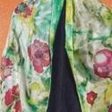 """""""Pipacs virágos tavaszi rét """" elegáns selyemsál, Dekoráció, Ruha, divat, cipő, Kendő, sál, sapka, kesztyű, Egyedi tervezésű ,különleges színvilágú, nagyon vidám selyemsál. Többféle színű ruháho..., Meska"""