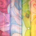 Színátmenetes   selyemsál, Képzőművészet, Vegyes technika, Selyemfestés, méret: 150*40 cm anyaga: 100 % tiszta selyem  Nagyon mutatós,egyedi tervezésű,divatos selyemsál. Kü..., Meska