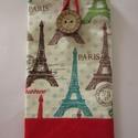 Eiffel-torony mintás mobiltok, Táska, Pénztárca, tok, tárca, Mobiltok, Szemüvegtartó, A mobiltok Eiffel-torony mintás pamut anyagból készült, vetex-szel bélelve, pamutvászon bélé..., Meska