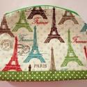 Neszi Eiffel-tornyos mintával, Táska, Neszesszer, A neszi romantikus pamut anyagból készült, vetex-szel megerősítve, zipzárral záródik. A mér..., Meska