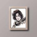 Trónok harca -Havas Jon portré, Dekoráció, Képzőművészet, Otthon, lakberendezés, Napi festmény, kép, Festészet,  Az eredeti termék saját festmény,mely akvarell festékkel készült. A másolatát A4es méretben árulom..., Meska