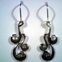Indás füli(10), Ékszer, Fülbevaló,  Csavart mintákból álló csüngős füli. Alapanyaga 925-ös ezüst., Meska