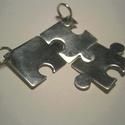 Puzzle, Ékszer, Férfiaknak, Medál, Ékszer, kiegészítő, 3 db-os puzzle szett.925-ös ezüstből készült. Rendelésre készítek több darabosat vagy más ..., Meska