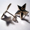 Csillag fülbevaló ezüstből, Ékszer, Esküvő, Fülbevaló, Esküvői ékszer,   A bedugós ezüst fülit 925-ös ezüstből készítettem.A csillag 15mm-es nagyságú., Meska