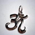 Nagy Óm medál, Ékszer, óra, Férfiaknak, Medál, Óra, ékszer, kiegészítő, 25x25 mm-es Óm medál ezüstből készült.Fémjelzett ékszer., Meska