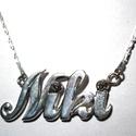 Neves nyaklánc, Ékszer, óra, Nyaklánc, A Niki neves nyaklánc 925-ös ezüstből készült., Meska