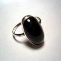 Jáde köves ezüst gyűrű, Ékszer, óra, Fülbevaló, Medál, Ékszerkészítés, Ötvös, A gyűrű mérete 56-os A kő mérete:10x19mm A kő színe:sötétzöld 925-ös ezüst felhasználásával készült..., Meska