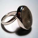 Rózsakvarc óriás, Ékszer, Gyűrű, 16x20mm-es rózsakvarchoz készítettem a gyűrűt,925-ös ezüstből Fémjelzett ékszer 62-es mér..., Meska