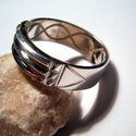 Atlantiszi gyűrű ezüstből, Ékszer, óra, Férfiaknak, Gyűrű, Óra, ékszer, kiegészítő, Ékszerkészítés, Ötvös, A gyűrű 925-ös ezüstből készült fémjelzett ékszer 60-as méretű.6,5 mm széles.Felülete fényes. Kérhe..., Meska