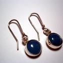 Akvamarin  ezüstfülbevaló, Ékszer, Fülbevaló, Ékszerkészítés, 1cm-es Kaboson akvamarin kövekhez készítette a fülbevalót 925-ös ezüstből.A kő színe világos kék.Fé..., Meska