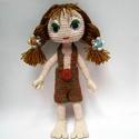 Horgolt játékbaba, Játék, Mindenmás, Baba, babaház, Játékfigura, 24 cm magas játékbaba, Meska