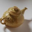 Teáskanna, Konyhafelszerelés, Kororngozott teáskanna. 1,2 literes. A máz saját készítés: hamut és agyagot is tartalmaz., Meska