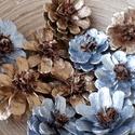 10 db-os tobozvirág csomag, Dekoráció, Esküvő, Dísz, 10 db-os tobozvirág csomag a képen látható színekben,vegyesen. A virágok 4-6 cm-esek,szár né..., Meska