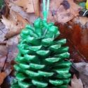 """Óriás tobozgyújtós """"fenyő és citrom"""" illattal, Esküvő, Dekoráció, Karácsonyi, adventi apróságok, Ünnepi dekoráció, 10-15 cm-es tobozokból készült tobozgyújtós zöld viaszba merítve isteni """"fenyő&citrom"""" illattal. Dek..., Meska"""